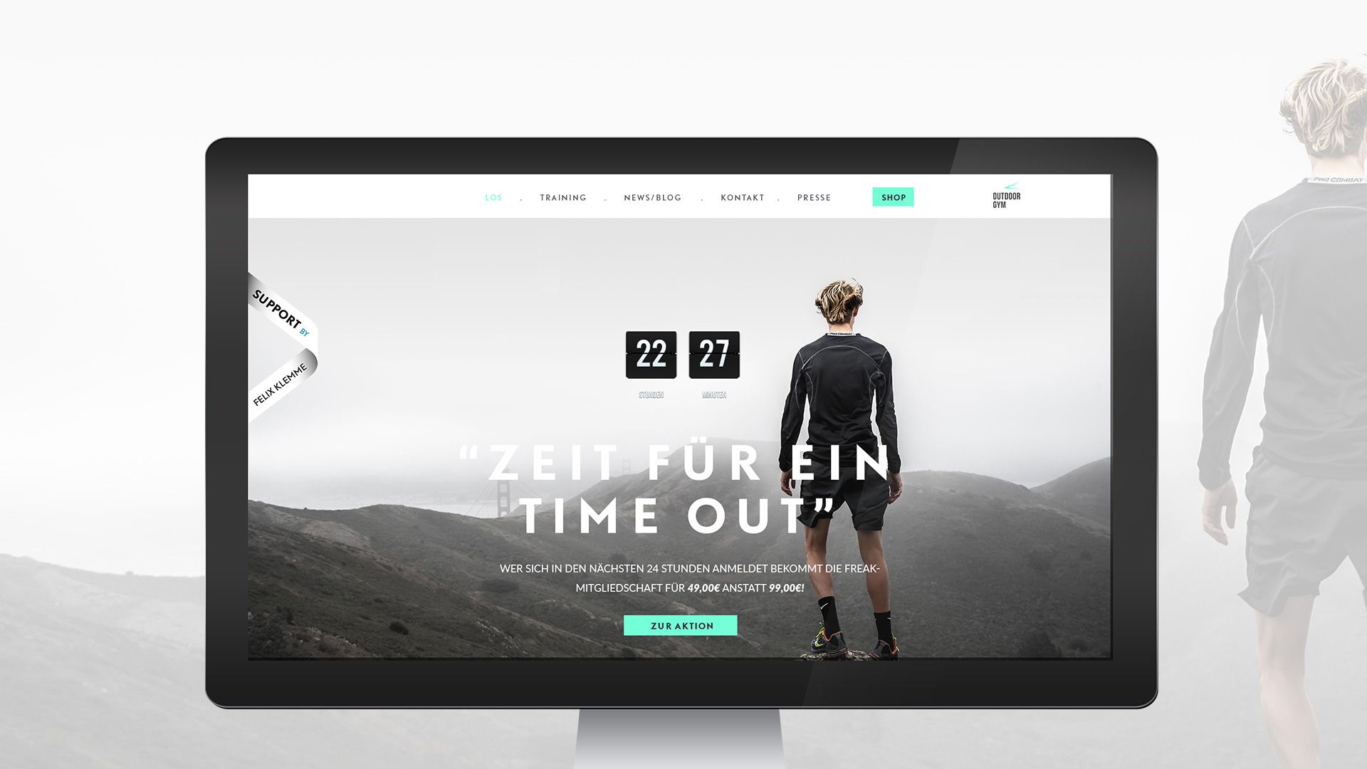 Outdoor Gym Webdesign Landingpage