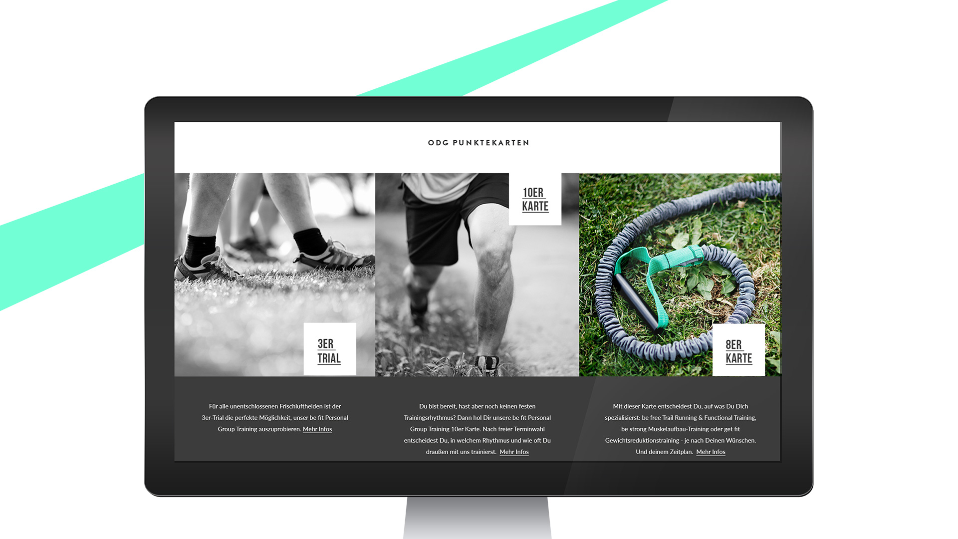Outdoor Gym Webdesign Angebotsseite