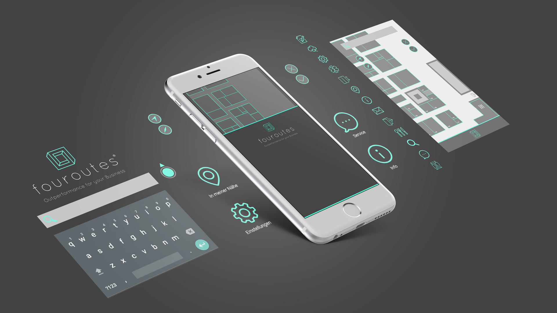 Fouroutes Appdesign Mockup